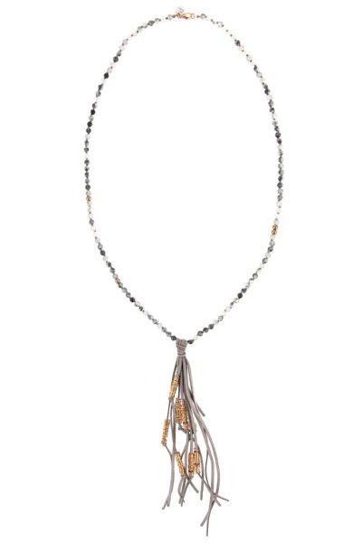 Picture of Ogrlica s privjeskom od kože i perla