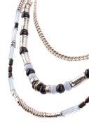 Picture of Ogrlica u tri niza s ukrasnim perlama