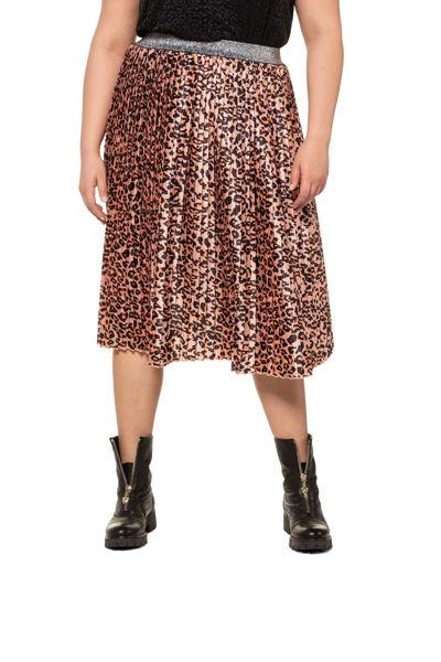 Picture of Suknja plise leopard motiv