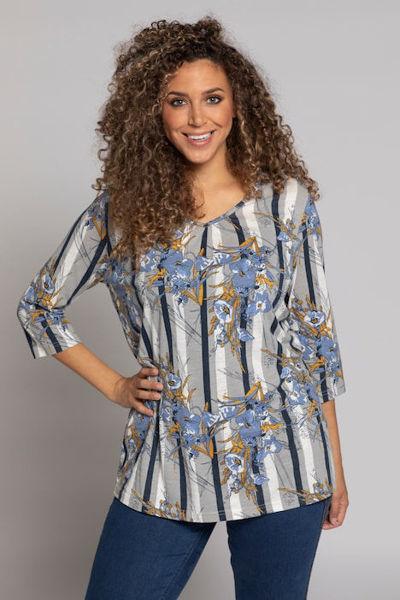 Picture of Majica A kroja s prugama i cvijećem