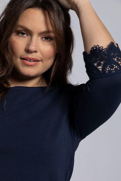 Picture of Majica A kroja s dodatkom čipke na rukavima