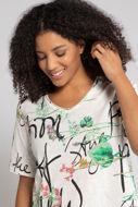 Picture of Majica motiv slova i cvijeća