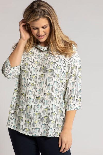 Picture of Bluza modni motiv povišeni ovratnik