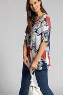 Picture of Majica dugi model s ukrasnim dodatkom na ovratniku