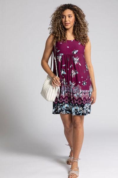 Picture of Haljina motiv cvijeća kraći model s džepovima