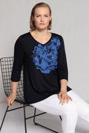 Picture of Majica V ovratnik s cvjetnim motivnom